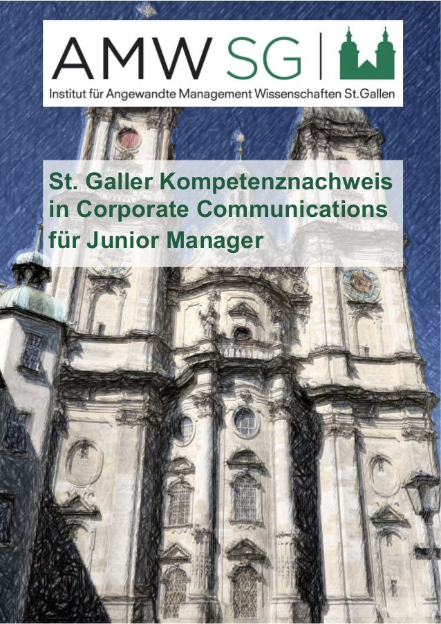 St. Galler Kompetenznachweis  in Corporate Communications  für Junior Manager
