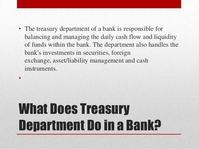 Treasury Management Banking 121