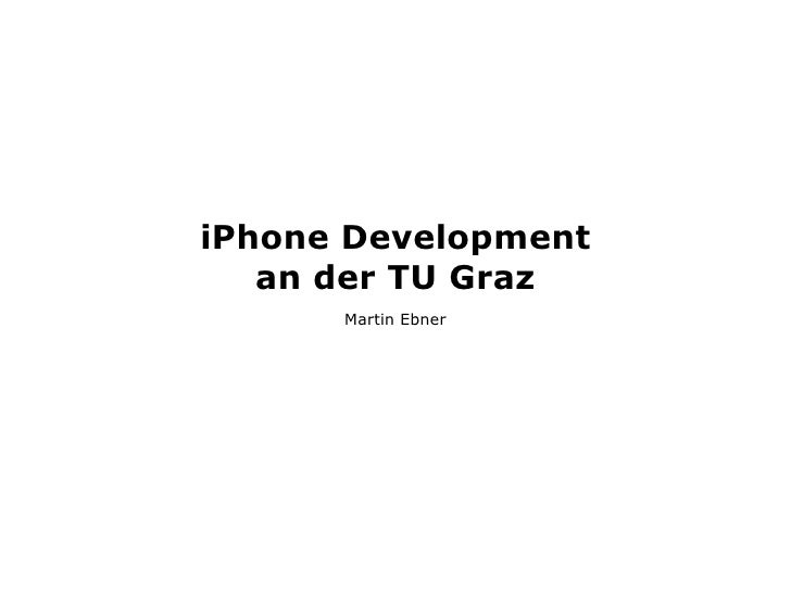 iPhone Development TU Graz