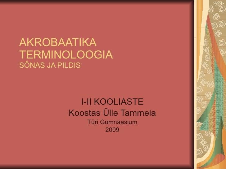 Akrobaatika terminoloogia