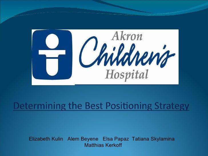Akron Hospital Marketing Research