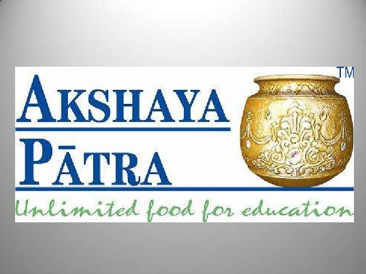 Akshaya Patra mid day meal in government schools