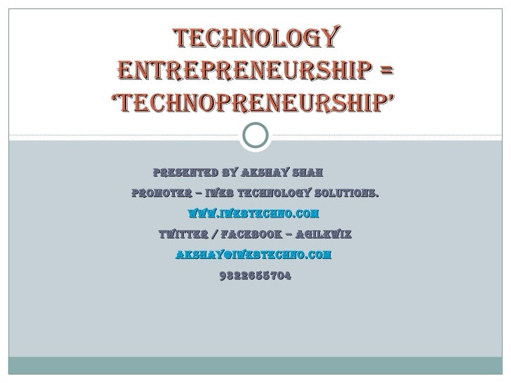 My 'Technopreneurship' presentation @ SCIT Pune!!!
