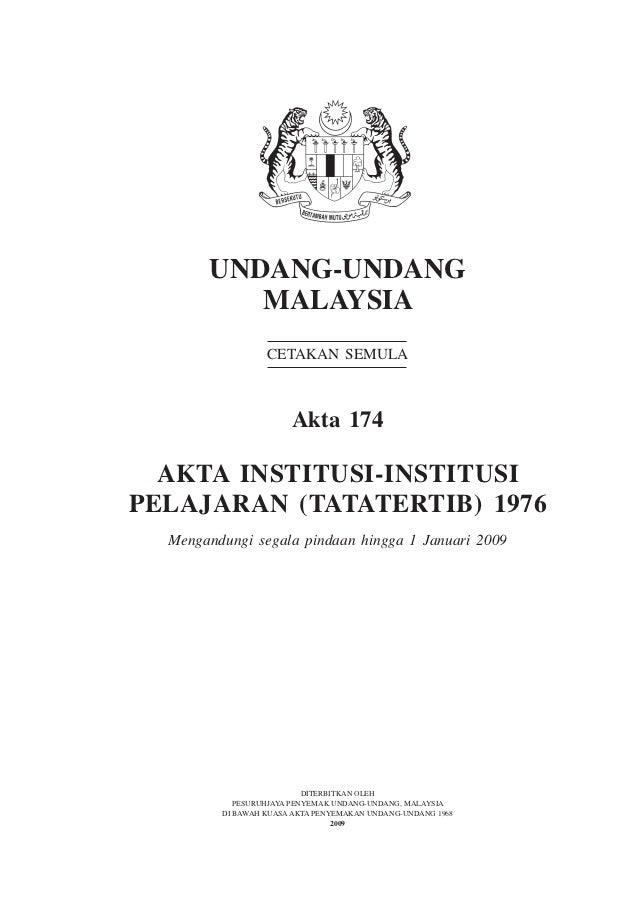 Akta 174 - Akta Institusi-Institusi Pelajaran 1976