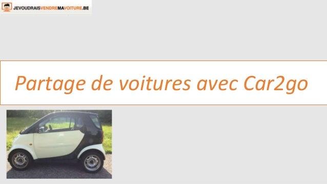 Partage de voitures avec Car2go