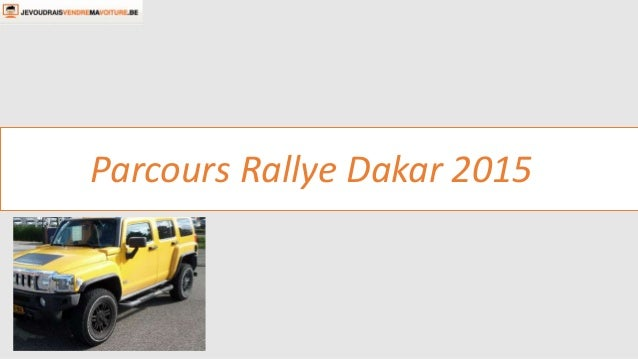 Parcours Rallye Dakar 2015