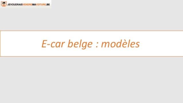 E-car belge : modèles