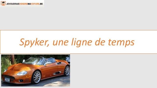 Spyker, une ligne de temps