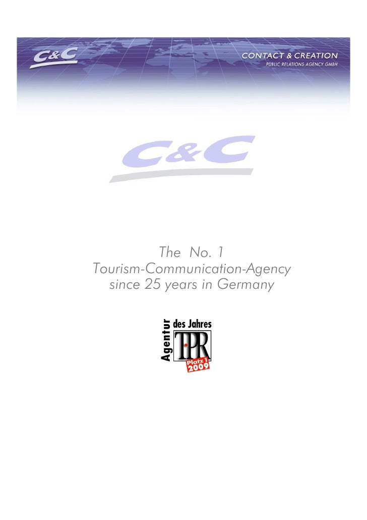 The No. 1 Tourism-Communication-Agency   since 25 years in Germany