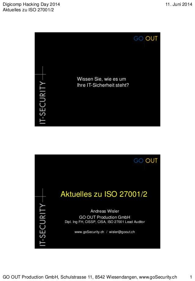 Aktuelles zu ISO 27000