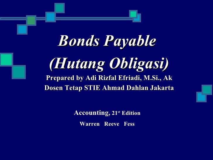 Akuntansi keuangan hutang obligasi