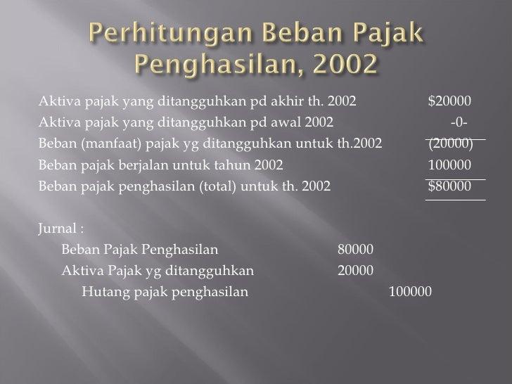 Akuntansi Untuk Pajak Penghasilan 2