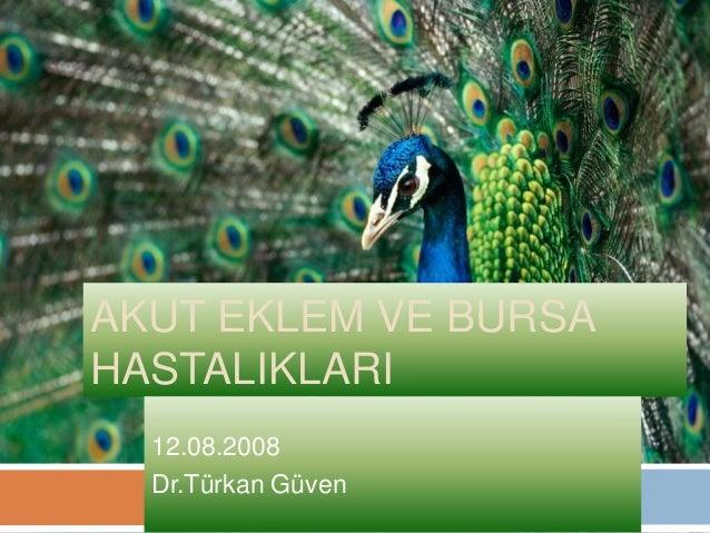 AKUT EKLEM VE BURSAHASTALIKLARI  12.08.2008  Dr.Türkan Güven