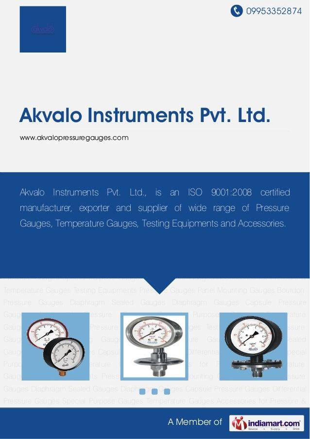 Commercial Pressure Gauge By Akvalo instruments-pvt-ltd
