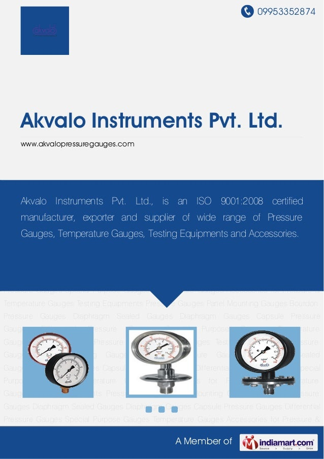 Commercial Pressure Gauge By Akvalo instruments-pvt-ltd