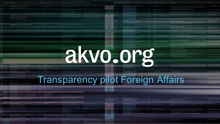Transparency pilot Foreign Affairs