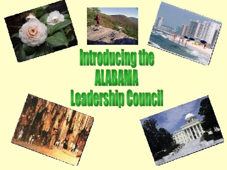 Introducing the ALABAMA Leadership Council