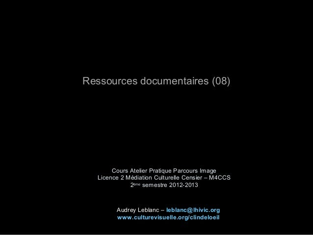 AL_Ress. documentaires 2013