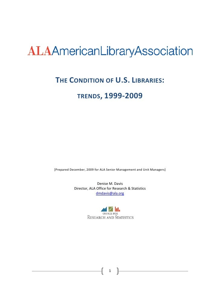 ALA Report Details Economic Trends in Libraries and 2010 Outlook