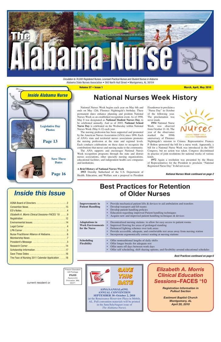 Alabama Nurse March 2010 Lioce