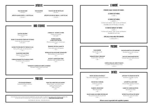 A la carte menu   koffmann's restaurant the berkeley