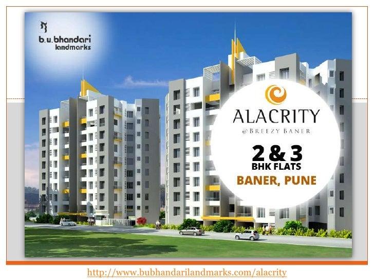 Quality flats in Baner by B U Bhandari Landmarks!