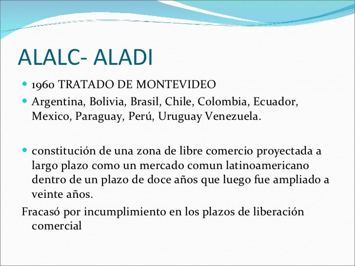 Alalc Aladi 1960