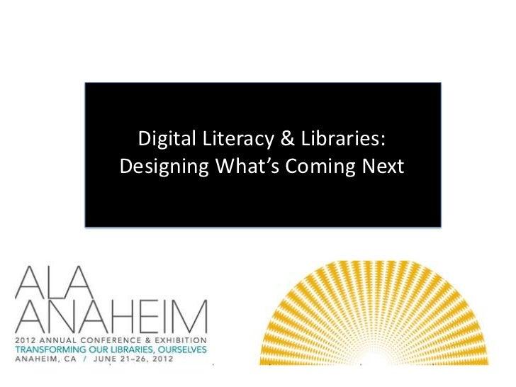 Hobbs on Digital Literacy at ALA 2012
