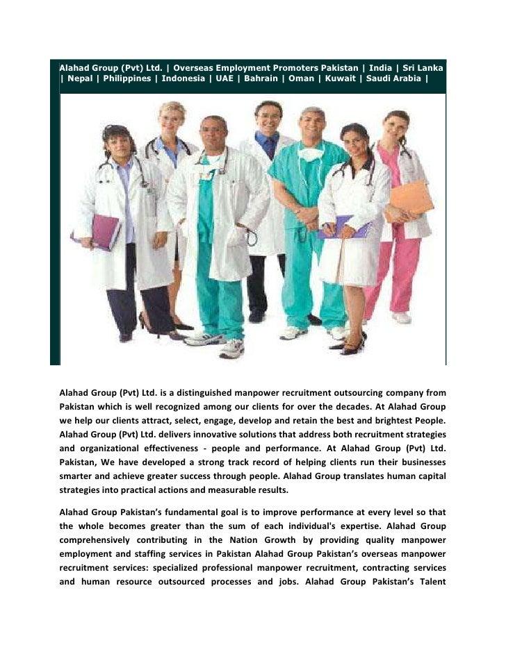 Recruitment Agencies in Pakistan, Employment Agencies Pakistan, Manpower Agencies Pakistan, Staffing Agencies Pakistan