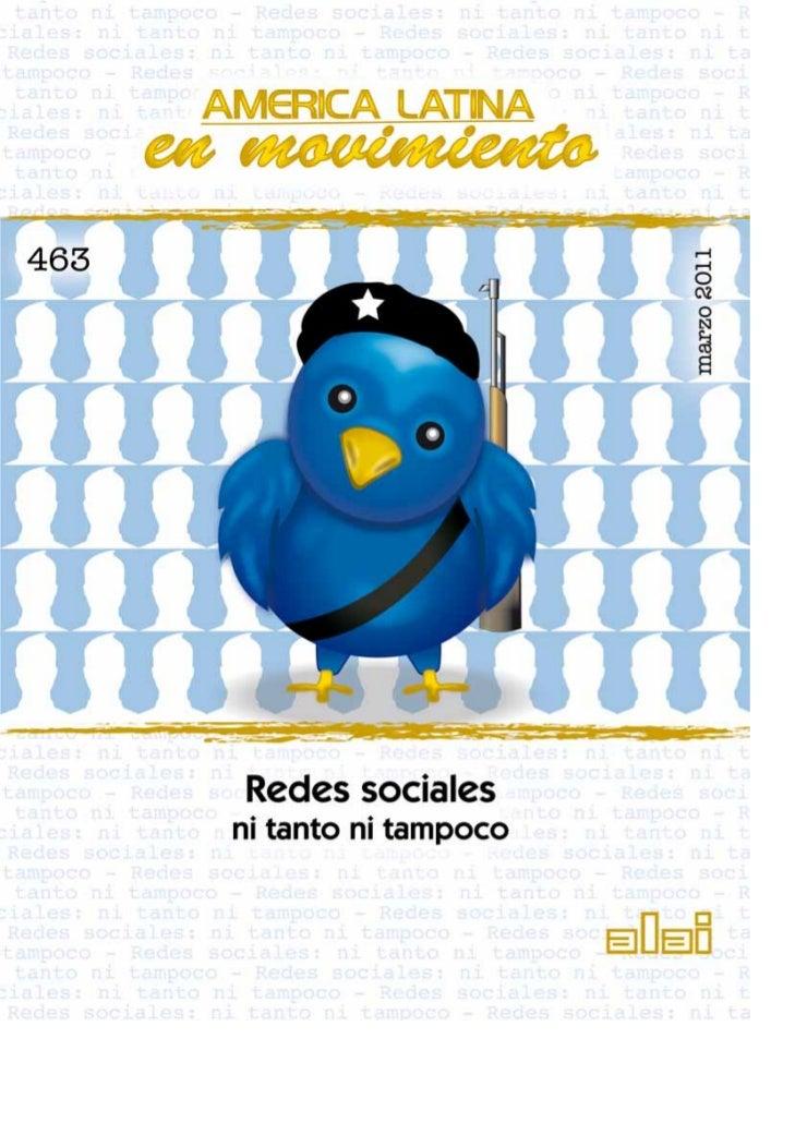 """Redes y enredos en 2.0""""Revolución Twitter, revolución Facebook, re-             trata de plataformas tecnológicas manejada..."""
