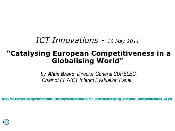 Alain Bravo: Catalysing European Competitiveness in a Globalising World