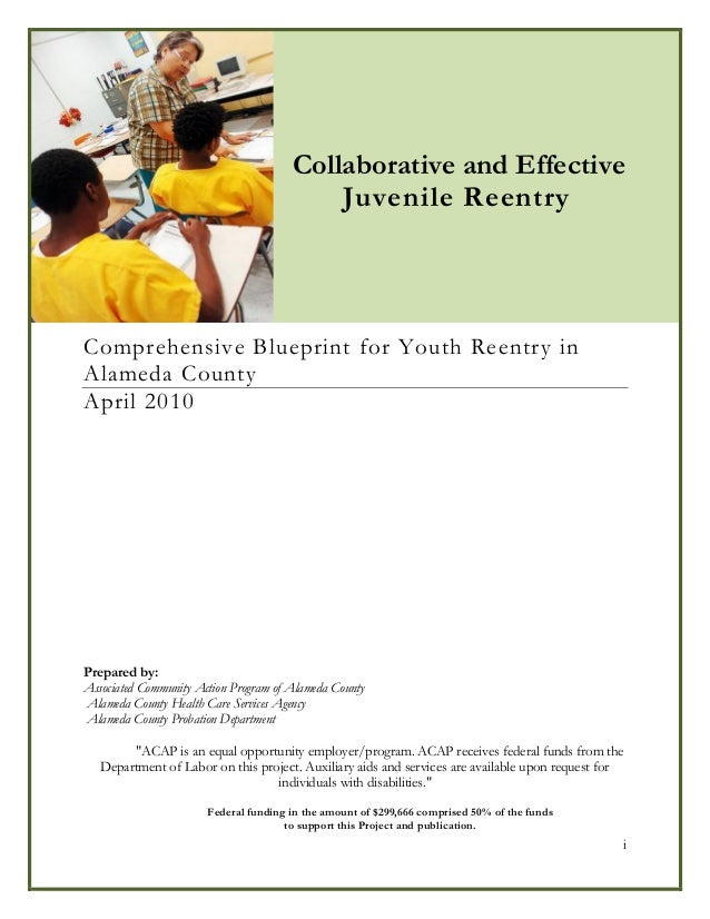 Alameda County Youth Reentry Blueprint 2010