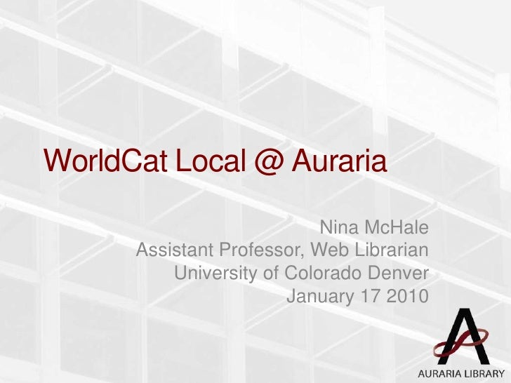 WorldCat Local@Auraria