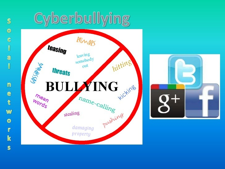 • Cyberbullying is when a child is threatened or humiliated by  another child or teen using the Internet or mobile phones....