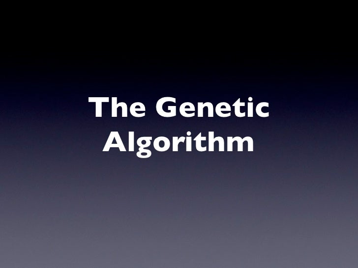 Genetic Algorithms and Particle Swarm Optimisation @ Flash Brighton, 28th July 2009