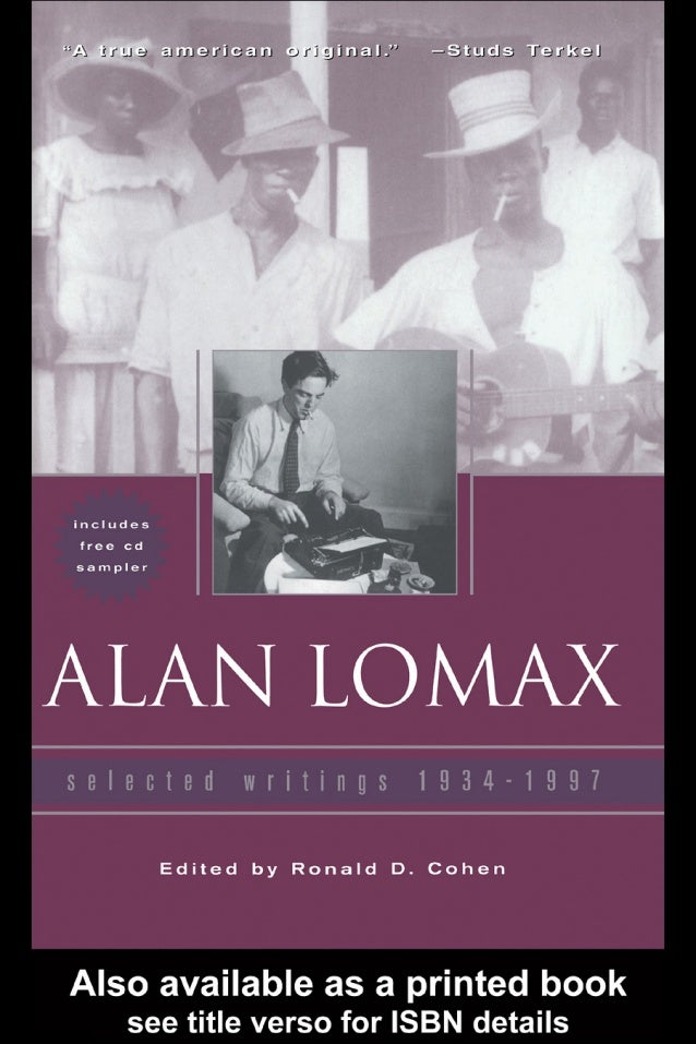 Alan lomax: selected writings, 1934 1997