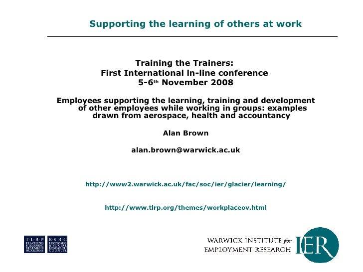 <ul><li>Training the Trainers:  </li></ul><ul><li>First International ln-line conference  </li></ul><ul><li>5-6 th  Novemb...