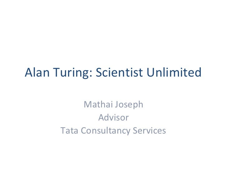 Alan Turing Scientist Unlimited | Turing100@Persistent Systems
