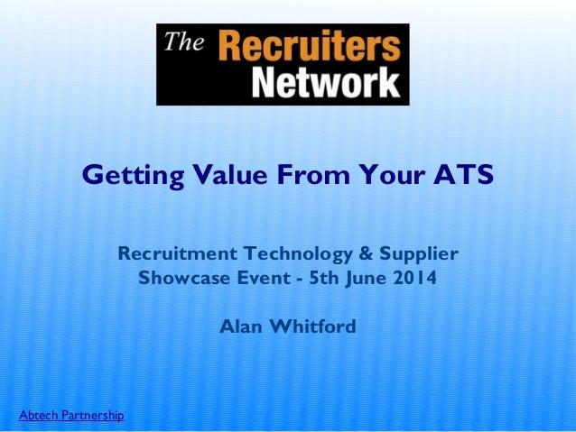 Alan Whitford - Workshop Slides June 2014