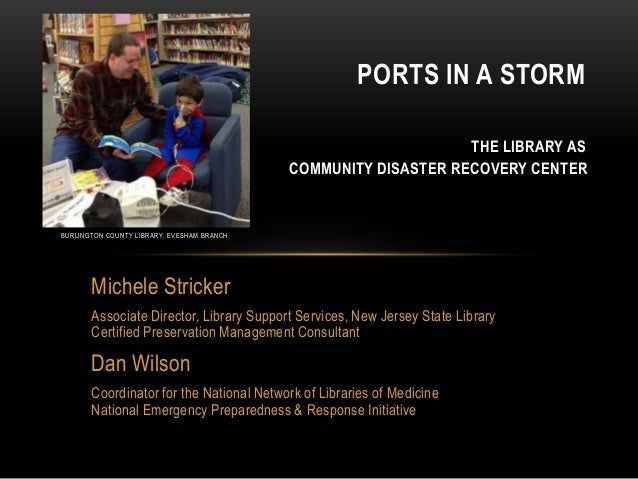 Ports in a Storm: The Library as Community Disaster Recovery Center