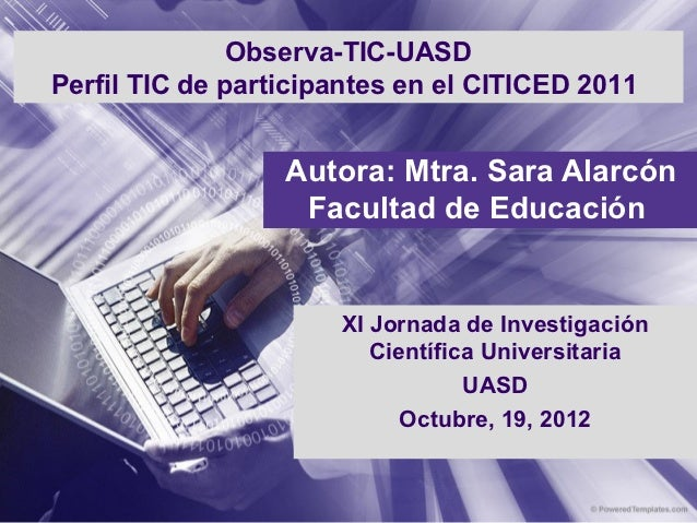 Informe de investigación JICUASD 2012
