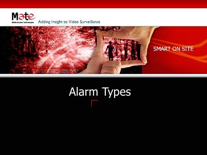 Alarm Types