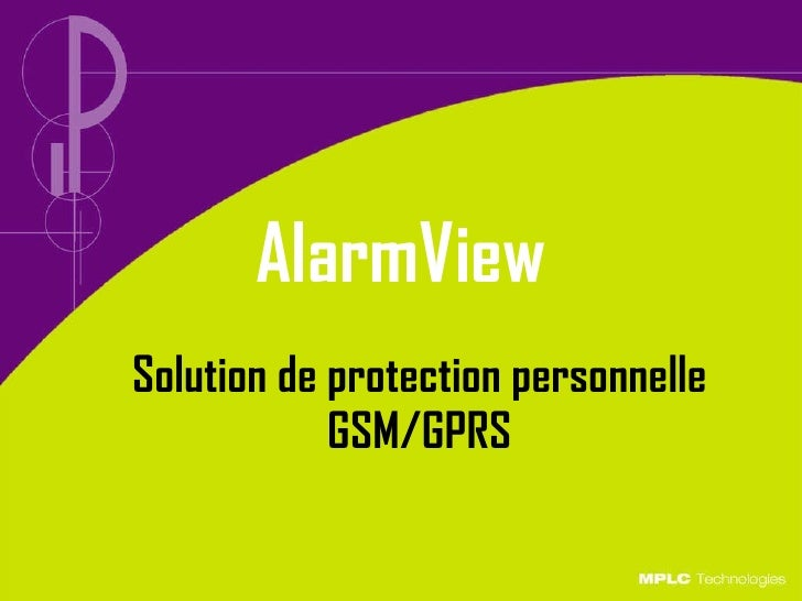 AlarmView Solution de protection personnelle  GSM/GPRS