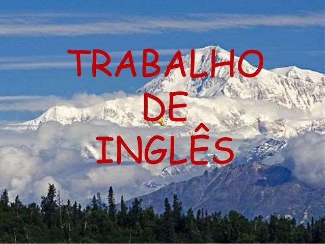 TRABALHO  DE  INGLÊS