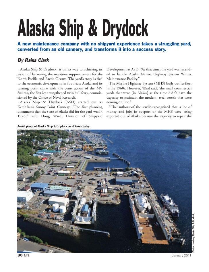 Alaska Ship & Drydock, MarineNews Jan. 2011