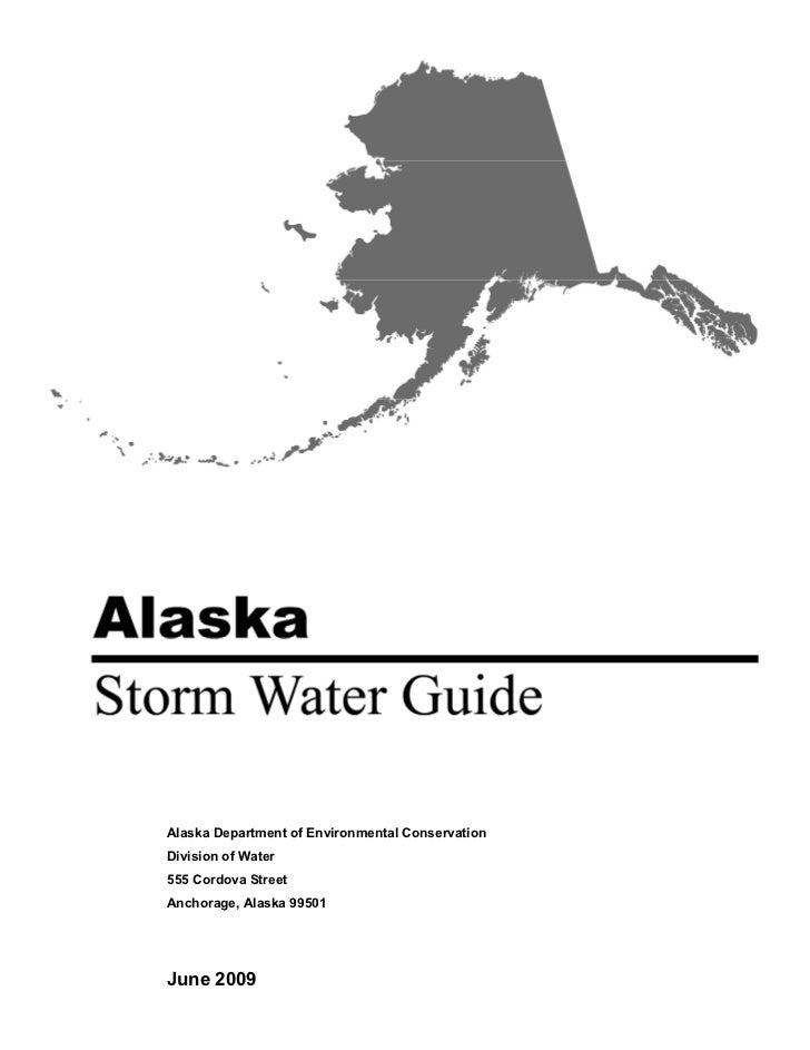 Alaska Department of Environmental ConservationDivision of Water555 Cordova StreetAnchorage, Alaska 99501June 2009