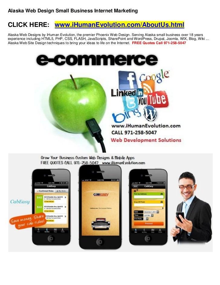 Alaska web design small business Internet marketing