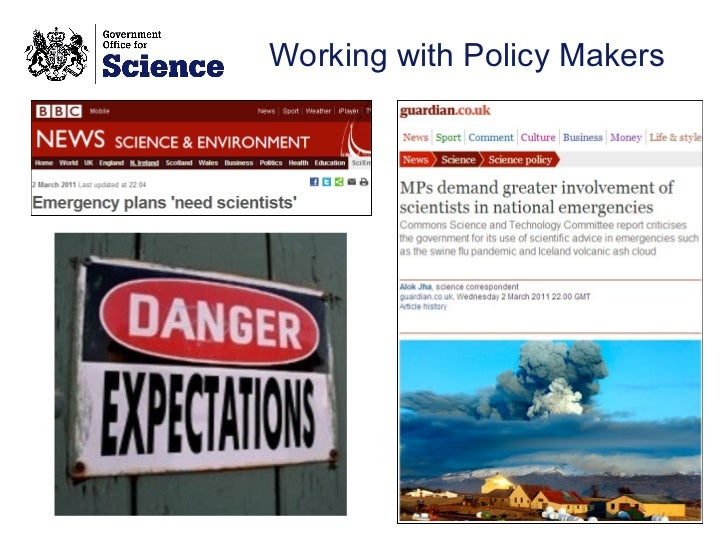 Working with Policy Makers
