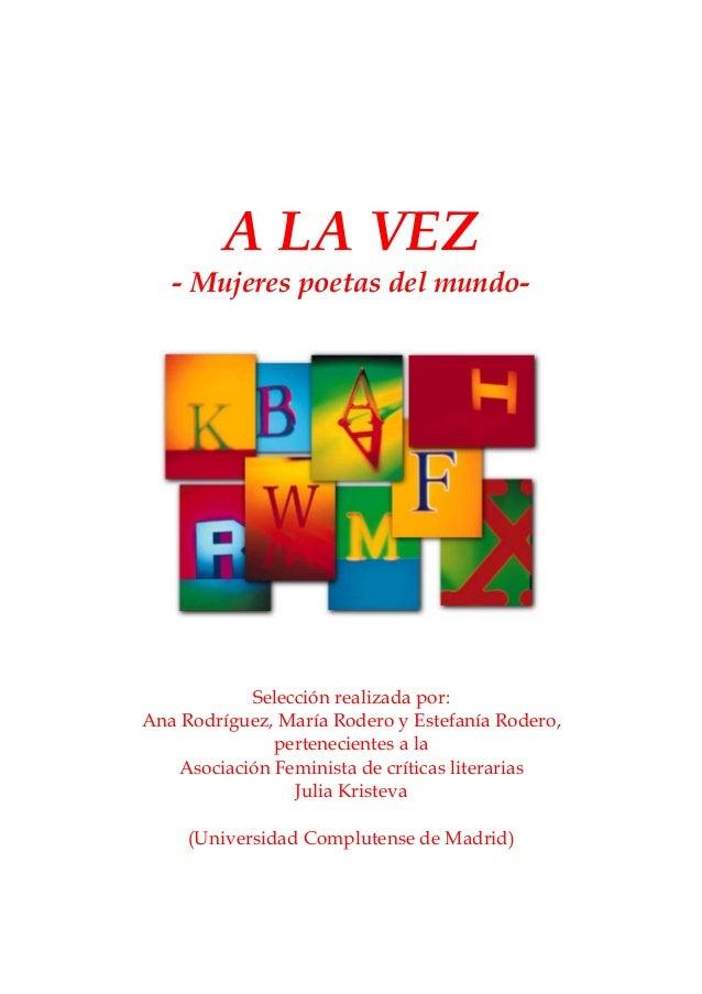 A LA VEZ: antología mundial de mujeres poetas (Estefanía Rodero Sanz, MUNDO CATARATA)