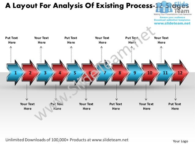 A Layout For Analysis Of Existing Process-12 StagesPut Text            Your Text              Put Text               Your ...